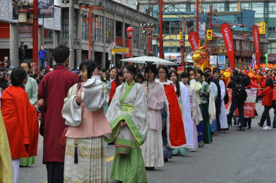 唐人街春节游行